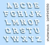 alphabet letters with 3d... | Shutterstock .eps vector #1649345050