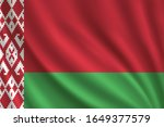 flag of belarus waving in the... | Shutterstock .eps vector #1649377579