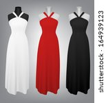 classic women's plain dress... | Shutterstock .eps vector #164939123