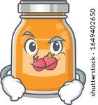 cool apple jam mascot character ... | Shutterstock .eps vector #1649402650