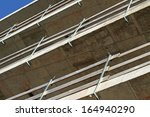 detail of fall protection rails