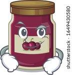 cool plum jam mascot character... | Shutterstock .eps vector #1649430580