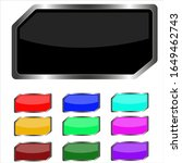 colorful web buttons vector...