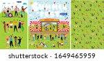 poster for music summer... | Shutterstock .eps vector #1649465959