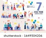 senior people family support... | Shutterstock .eps vector #1649504206