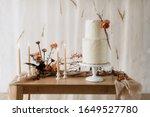 Boho style wedding cake. Wedding sweets. Boho wedding.