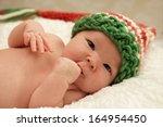 Healthy Newborn Baby Looking I...