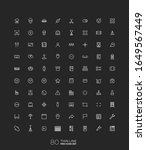 line art simple icon set for...