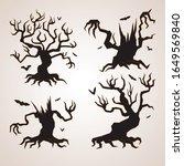 spooky trees silhouette...   Shutterstock .eps vector #1649569840