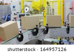 automation   cardboard boxes on ... | Shutterstock . vector #164957126
