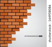 brick wall. eps10 vector   Shutterstock .eps vector #164958086
