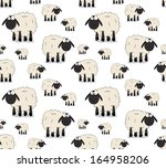 Nice Texture Of Cartoon Sheeps