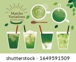 japanese green tea variation...   Shutterstock . vector #1649591509