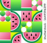abstract watermelon seamless... | Shutterstock .eps vector #1649596399