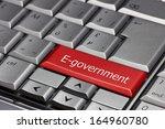 computer key   e government | Shutterstock . vector #164960780