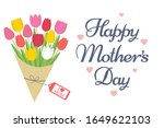 mother's day greeting card.... | Shutterstock .eps vector #1649622103