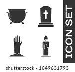 set burning candle   halloween...   Shutterstock .eps vector #1649631793