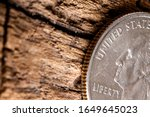 quarter american dollar with ... | Shutterstock . vector #1649645023