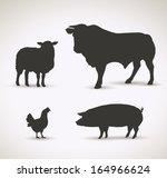 domestic animals   vector... | Shutterstock .eps vector #164966624