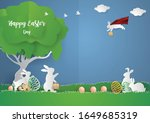 Super Rabbit On Sky And Family...