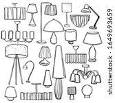 lighting in the house....   Shutterstock .eps vector #1649693659