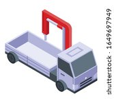 crane tow truck icon. isometric ... | Shutterstock .eps vector #1649697949