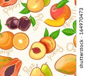 seamless background with juicy... | Shutterstock .eps vector #164970473