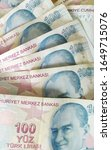 turkish liras. 100 tl turkish... | Shutterstock . vector #1649715076