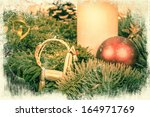 beautiful christmas decoration... | Shutterstock . vector #164971769