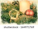 beautiful christmas decoration... | Shutterstock . vector #164971769