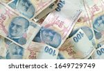 turkish liras. 100 tl turkish... | Shutterstock . vector #1649729749