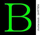 figure  letter b  green