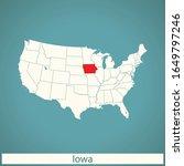 vector map of the iowa | Shutterstock .eps vector #1649797246