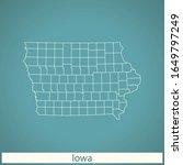 vector map of the iowa | Shutterstock .eps vector #1649797249
