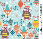 winter gentle pattern with