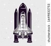 space shuttle vector... | Shutterstock .eps vector #1649833753