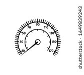 speedometer icon in a trendy...   Shutterstock .eps vector #1649839243