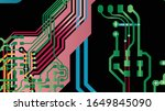 multi layer pcb motherboard...   Shutterstock .eps vector #1649845090