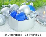christmas decoration in box for ... | Shutterstock . vector #164984516