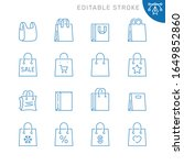 shopping bag related icons.... | Shutterstock .eps vector #1649852860