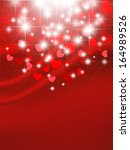 heart valentine background | Shutterstock .eps vector #164989526