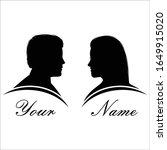 romantic couple silhouette ... | Shutterstock .eps vector #1649915020