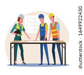 woman architect and...   Shutterstock .eps vector #1649922430