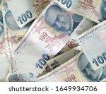 turkish liras. 100 tl turkish... | Shutterstock . vector #1649934706