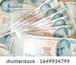 turkish liras. 100 tl turkish... | Shutterstock . vector #1649934799