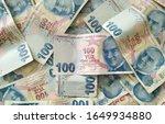 turkish liras. 100 tl turkish... | Shutterstock . vector #1649934880