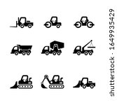 icons road machinery. different ...   Shutterstock .eps vector #1649935429