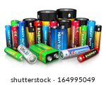 group of different size color... | Shutterstock . vector #164995049
