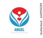 angel love red heart logo... | Shutterstock .eps vector #1649954299