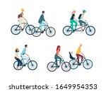 set of people characters riding ... | Shutterstock .eps vector #1649954353